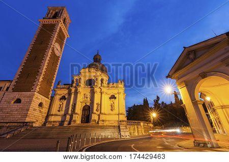 Basilica di Monte Berico in Vicenza. Vicenza Veneto Italy.