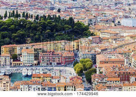 Nice panorama seen from Mt Boron. Nice French Riviera France. poster