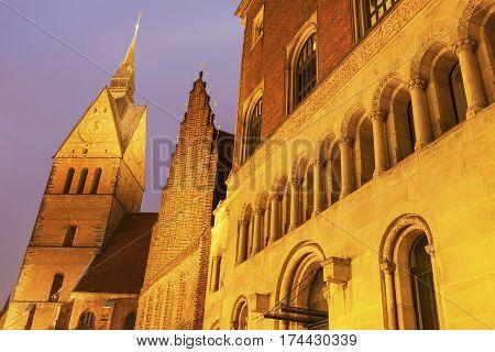 Marktkirche in Hanover. Hanover Lower Saxony Germany