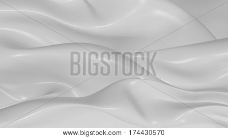 3D Illustration Abstract White Background with Glare