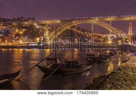Luiz I Bridge in Porto. Porto Norte Region Portugal.