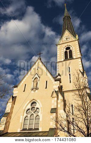 St. Nicholas Church in Villach. Villach Carinthia Austria.