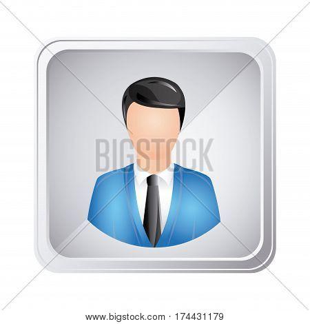 silver emblem technical support man assistant, vector illustraction design