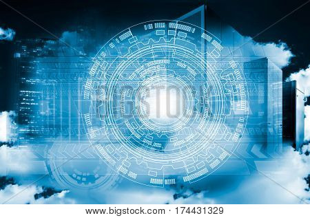 asbtract background on top of the cloud and the modern metropolis