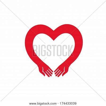 heart with hands. heart with hands vector silhouette