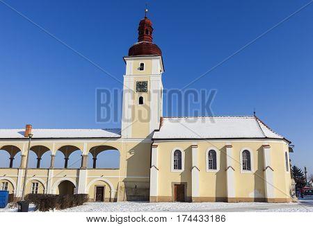 St. Martin Church in Nove Dvory. Bohemia Czech Republic.