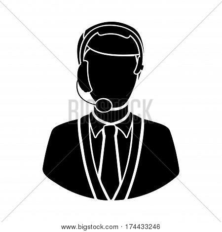 black man techical man customer support, vector illustraction design