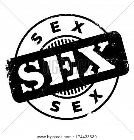 Sex rubber stamp. Grunge design with dust scratches. Effects can be easily removed for a clean, crisp look. Color is easily changed.