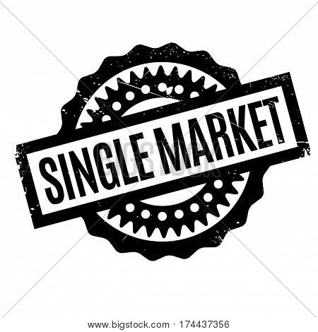 Single Market rubber stamp. Grunge design with dust scratches. Effects can be easily removed for a clean, crisp look. Color is easily changed.