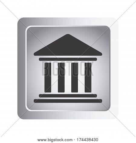 emblem shape bank icon, vector illustraction design image