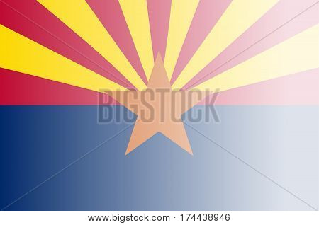 The flag of the USA state of Arizona with fade