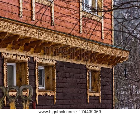 wooden building wall of a old house.