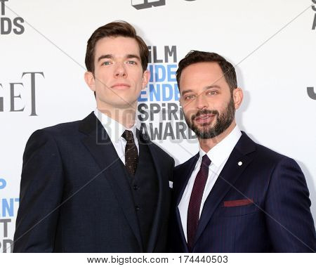LOS ANGELES - FEB 25:  John Mulaney, Nick Kroll at the 32nd Annual Film Independent Spirit Awards at Beach on February 25, 2017 in Santa Monica, CA