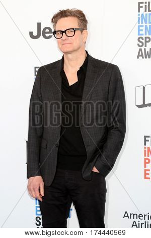 LOS ANGELES - FEB 25:  Colin Firth at the 32nd Annual Film Independent Spirit Awards at Beach on February 25, 2017 in Santa Monica, CA