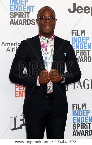 LOS ANGELES - FEB 25:  Barry Jenkins at the 32nd Annual Film Independent Spirit Awards at Beach on February 25, 2017 in Santa Monica, CA