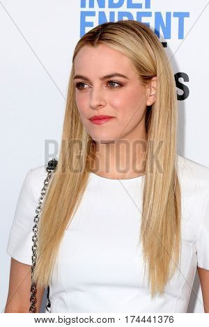 LOS ANGELES - FEB 25:  Riley Keough at the 32nd Annual Film Independent Spirit Awards at Beach on February 25, 2017 in Santa Monica, CA