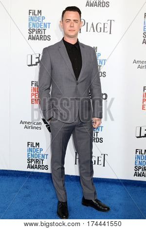 LOS ANGELES - FEB 25:  Colin Hanks at the 32nd Annual Film Independent Spirit Awards at Beach on February 25, 2017 in Santa Monica, CA