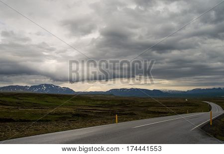 Scenic and vast ring road in Iceland