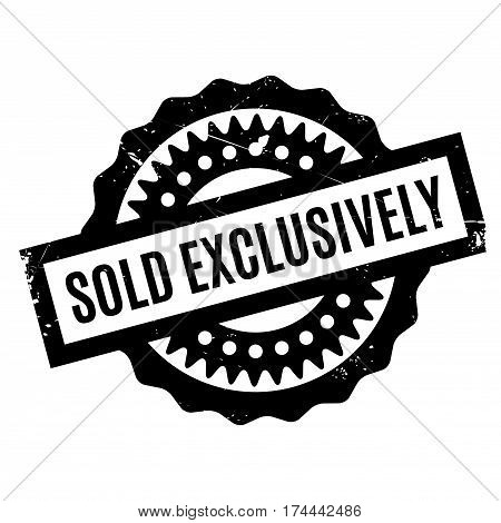 Sold Exclusively rubber stamp. Grunge design with dust scratches. Effects can be easily removed for a clean, crisp look. Color is easily changed.