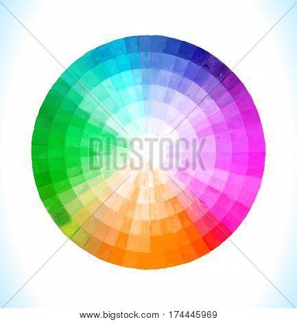 Multicolor  Vector  Spectral Circle