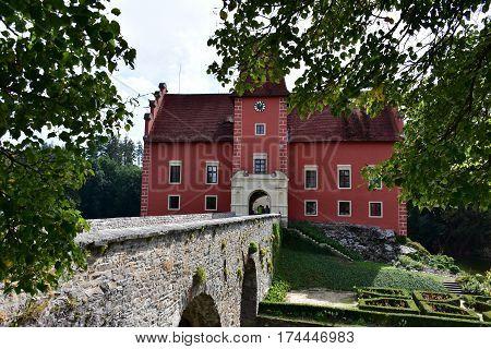 castle Cervena Lhota in Czech republic, Europe