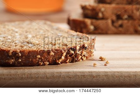 Rustic Homemade Bread With Seeds