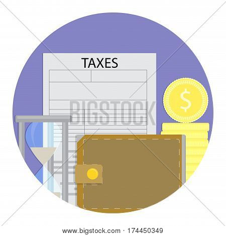 Tax day icon vector. Financial annual tax illustration