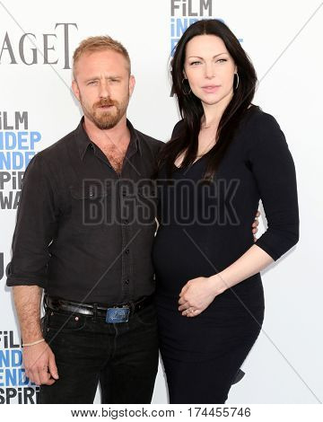 LOS ANGELES - FEB 25:  Ben Foster, Laura Prepon at the 32nd Annual Film Independent Spirit Awards at Beach on February 25, 2017 in Santa Monica, CA