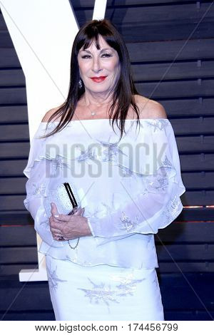 LOS ANGELES - FEB 26:  Anjelica Huston at the 2017 Vanity Fair Oscar Party  at the Wallis Annenberg Center on February 26, 2017 in Beverly Hills, CA