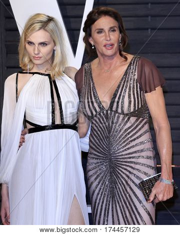LOS ANGELES - FEB 26:  Andreja Pejic, Caitlyn Jenner at the 2017 Vanity Fair Oscar Party  at the Wallis Annenberg Center on February 26, 2017 in Beverly Hills, CA