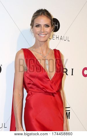 LOS ANGELES - FEB 26:  Heidi Klum at the 25the Annual Elton John Academy Awards Viewing Party at the  City of West Hollywood Park on February 26, 2017 in West Hollywood, CA