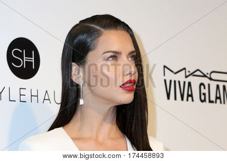 LOS ANGELES - FEB 26:  Adriana Lima at the 25the Annual Elton John Academy Awards Viewing Party at the  City of West Hollywood Park on February 26, 2017 in West Hollywood, CA