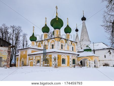 Church of St. John the Baptist in Alexey convent in winter, Uglich, Russia