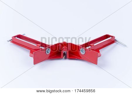Carpenter Angle Clamps Isolated On White