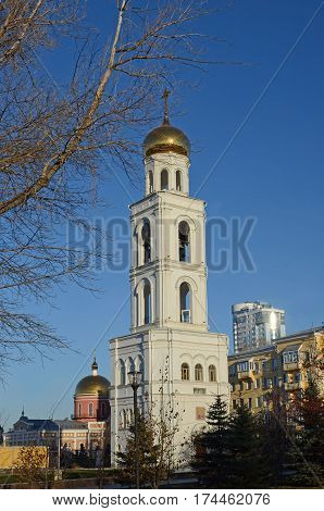 Belfry of Iver female monastery in the city of Samara