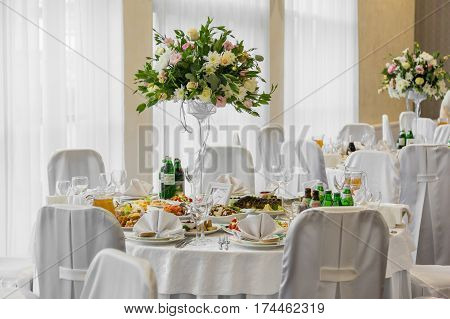 Buffet table corporate. table appointments for corporate