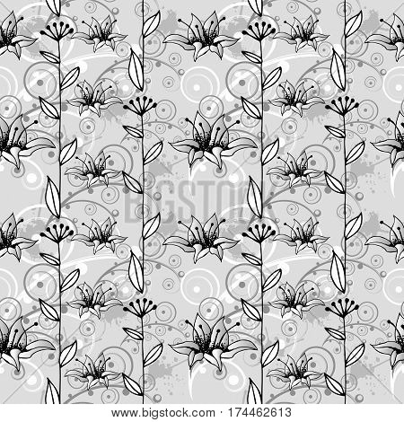 Flower background. Floral seamless texture with flowers.