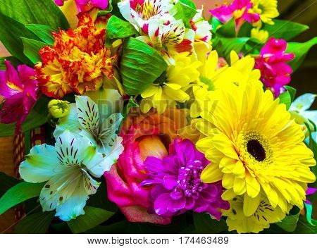 gerbera. bouquet of flowers. bouquet of flowers roses gerbera