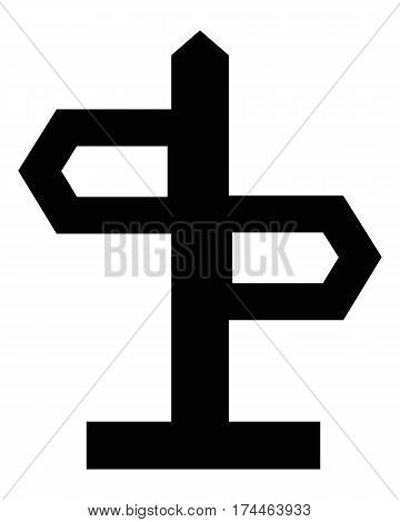 direction sign arrow blank choice crossroads direction