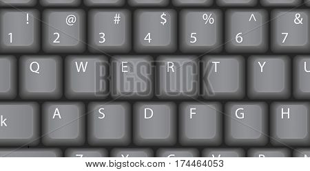 QWERTY Vector computer keyboard Classic style retro.