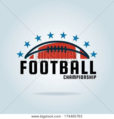 American football logo template design vector illustration