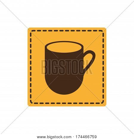 yellow sticker cuppa icon, vector illustraction design image