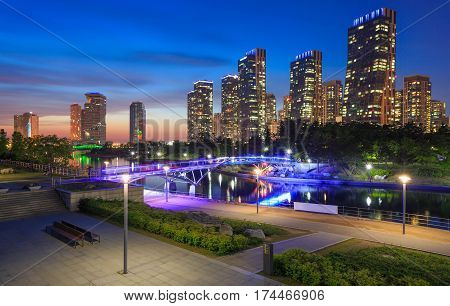 Songdo Central Park In Songdo International Business District, Incheon South Korea.