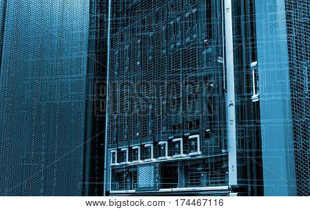 blade storage supercomputer of data center binary code