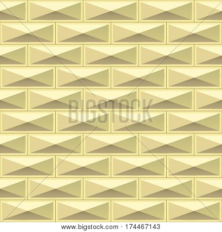 Tiles texture from gold metal blocks. Seamless pattern