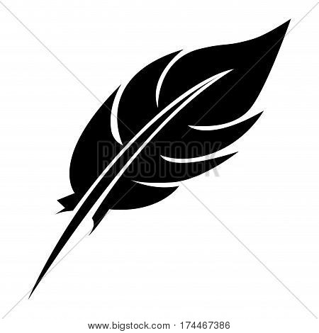 black feather icon stock, vector illustraction design image
