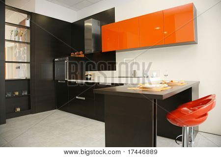 interior of a modern kitchen