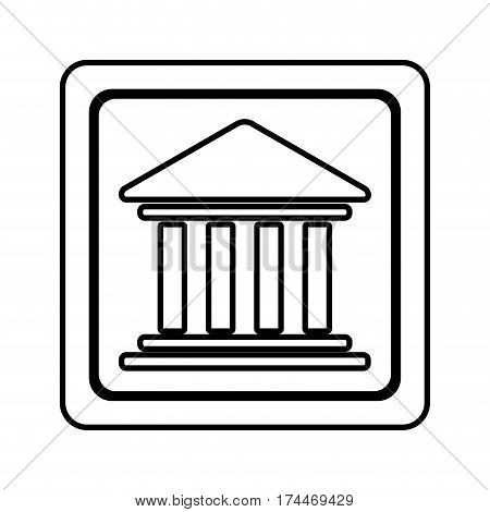 figure emblem shape bank icon, vector illustraction design image