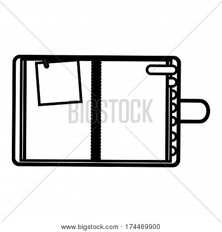 figure agenda with tabs and paper note icon, vector illustraction design