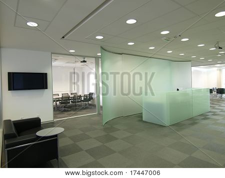 interior of a modern workplace
